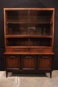 Vintage Mid Century Modern China Cabinet Hutch Garrison ...