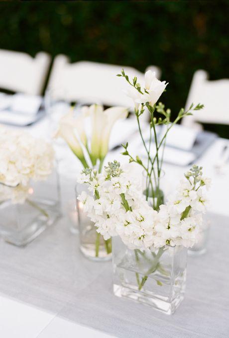 Simple Floral Wedding Centerpieces  White centerpiece Floral wedding and Calla lilies