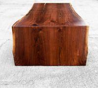 Walnut Coffee Table Folded Bole Steel Base by ...