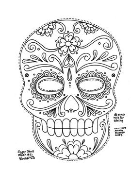 This is a mask that is great for the Day of the Dead or