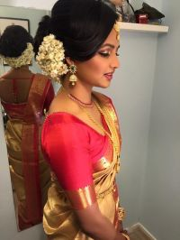 South Indian wedding Vithya Hair and Makeup | Traditional ...