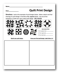 Planning Sheet and Lesson Plan : Quilt Prints | Art ...