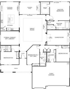 Love this layout with extra rooms single story floor plans one house pardee homes also  ef abc    eb  pixels interior rh pinterest