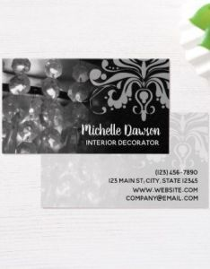 also chandelier  damask interior decorator business card rh no pinterest