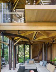 This treehouse like home is stunning inside and out also rh pinterest