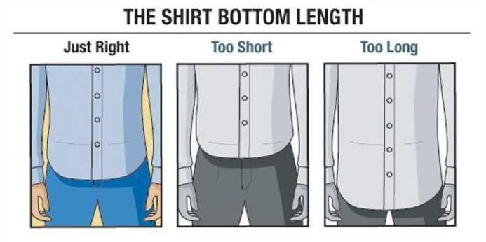 Znalezione obrazy dla zapytania dress lengths guide men