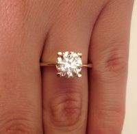 Yellow Gold Engagement Rings On Hand | www.pixshark.com ...