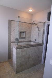 Custom walk in shower, Samsung Quartz Mariposa Buff, Delta ...