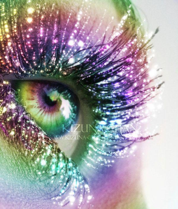 sparkle eyeshadow glitter rainbow teal turquoise