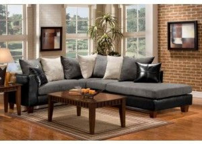 Furniture of america sm sc ewell contemporary ebony leather and graphite microfiber living room sectional sofa set also