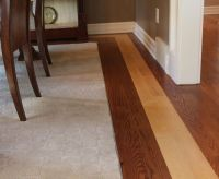 Dining room floor with contrasting border