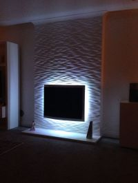 Fireplace textured wall project. 3D Wall Panels