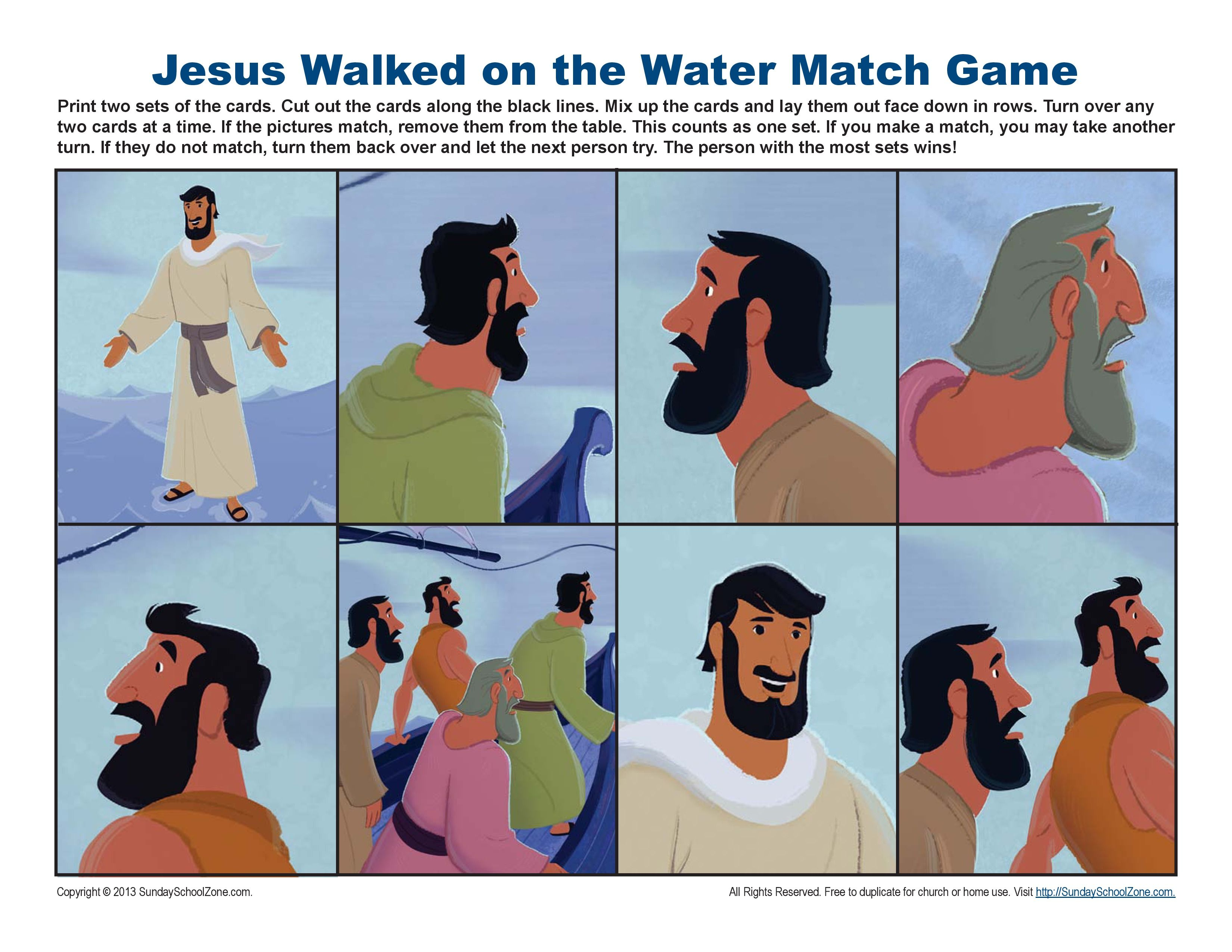 Jww02 Jesus Walked On Water Match Game Page 0