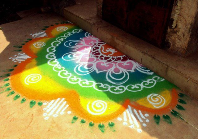 Welcome Rangoli Designs At Your Home Entrance India Pinterest