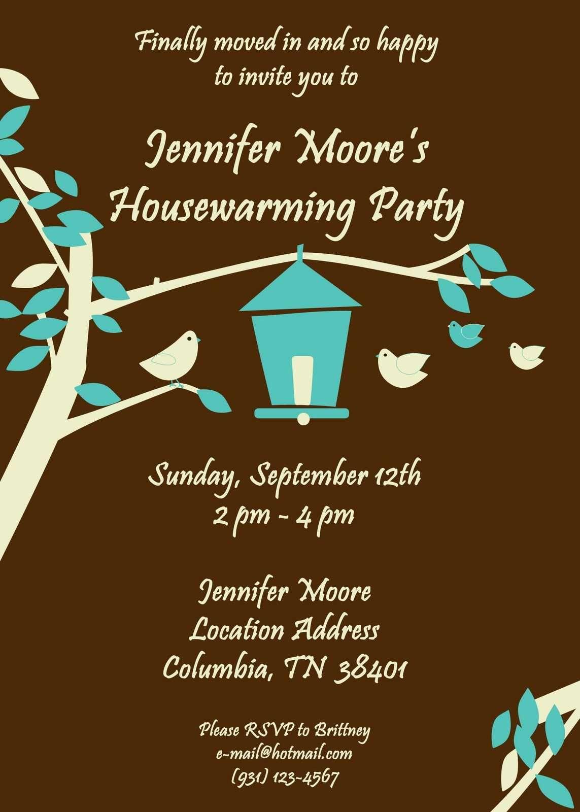 Housewarming Party Invitations Cute Birdhouse Theme Anna & Randy