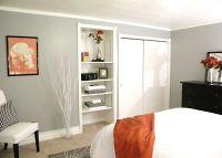 Pop of color. Walls are Behr gentle rain | Guest room ...