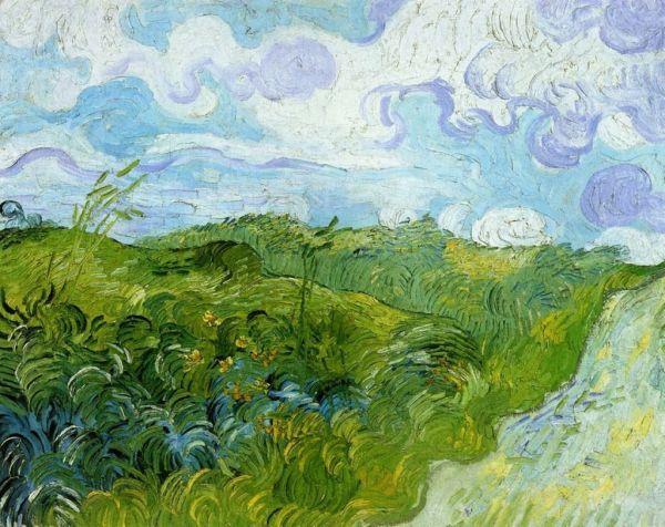 Green Wheat Field Auvers 1890 Vincent Van Gogh