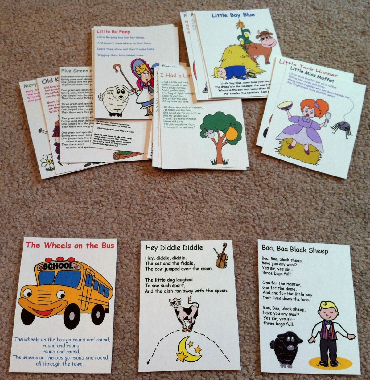 Busy Bag Nursery Rhymes And Songs Flashcards 1 200