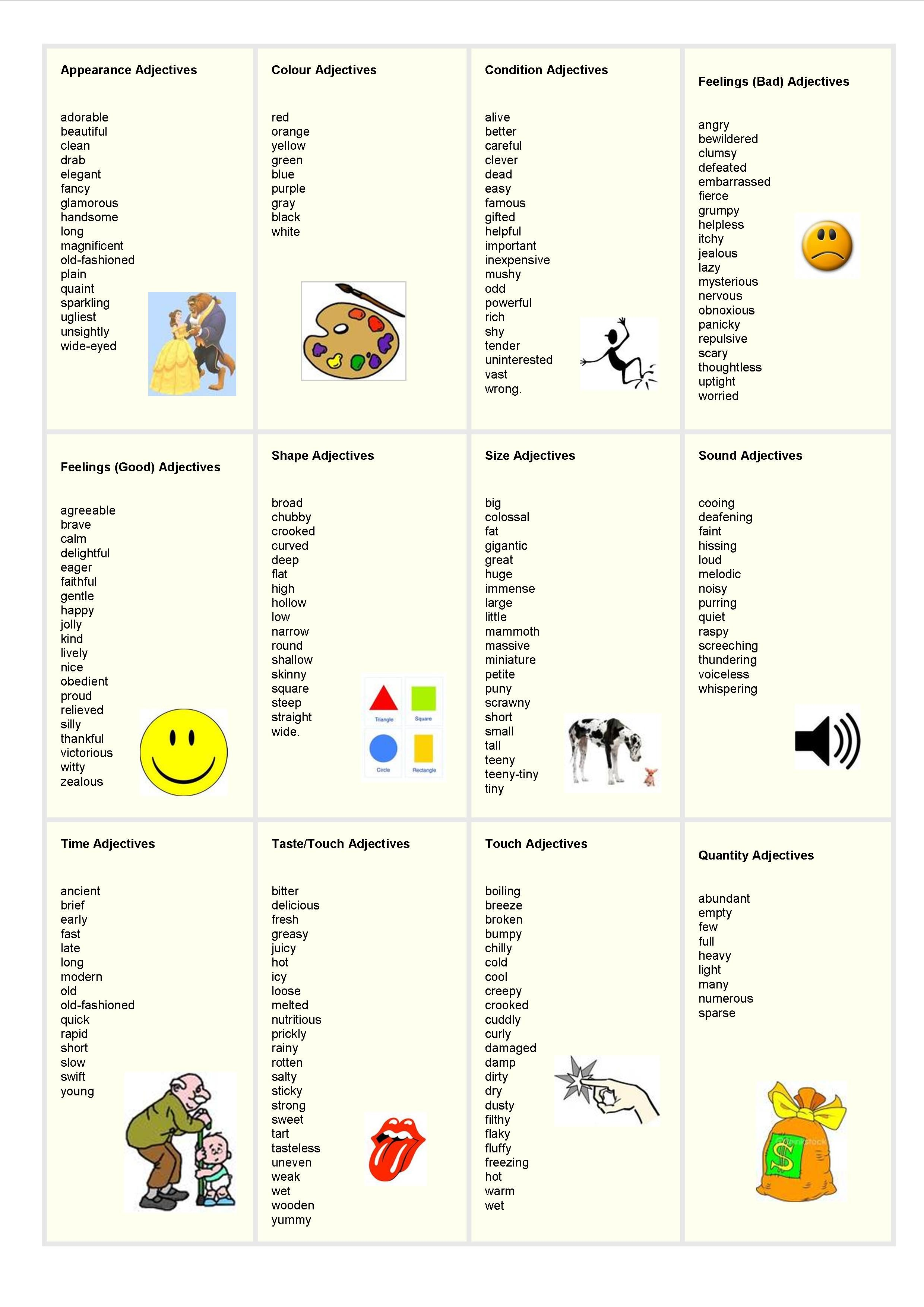Adjectives List 2 480 3 508 Pixels
