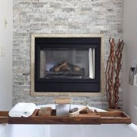 Fireplace tile - Claros Silver Architectural Travertine ...