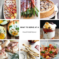 What to Serve at a Brunch Bridal Shower: Menus & Recipes ...