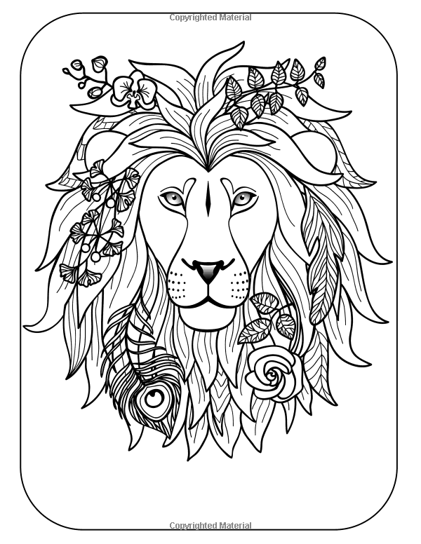 Wild & Free: Coloring Books For Adults Featuring Amazing