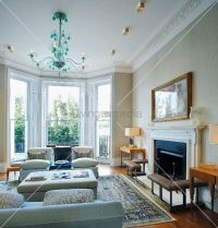 living room bay window fireplace | 11003912 | HOME ...