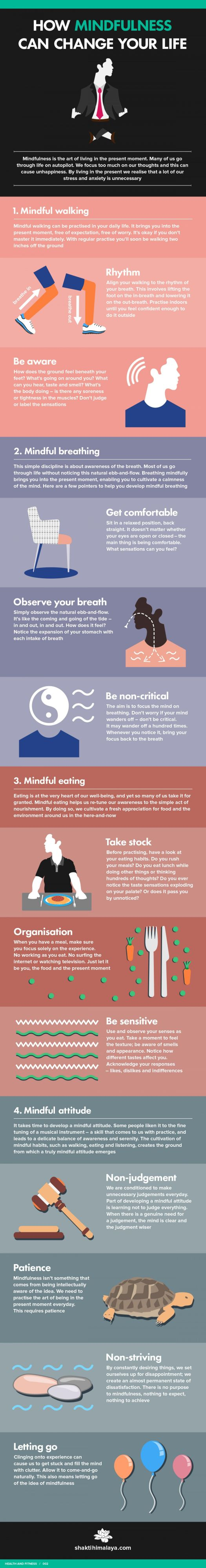 How Mindfulness Can Change Your Life #infographic