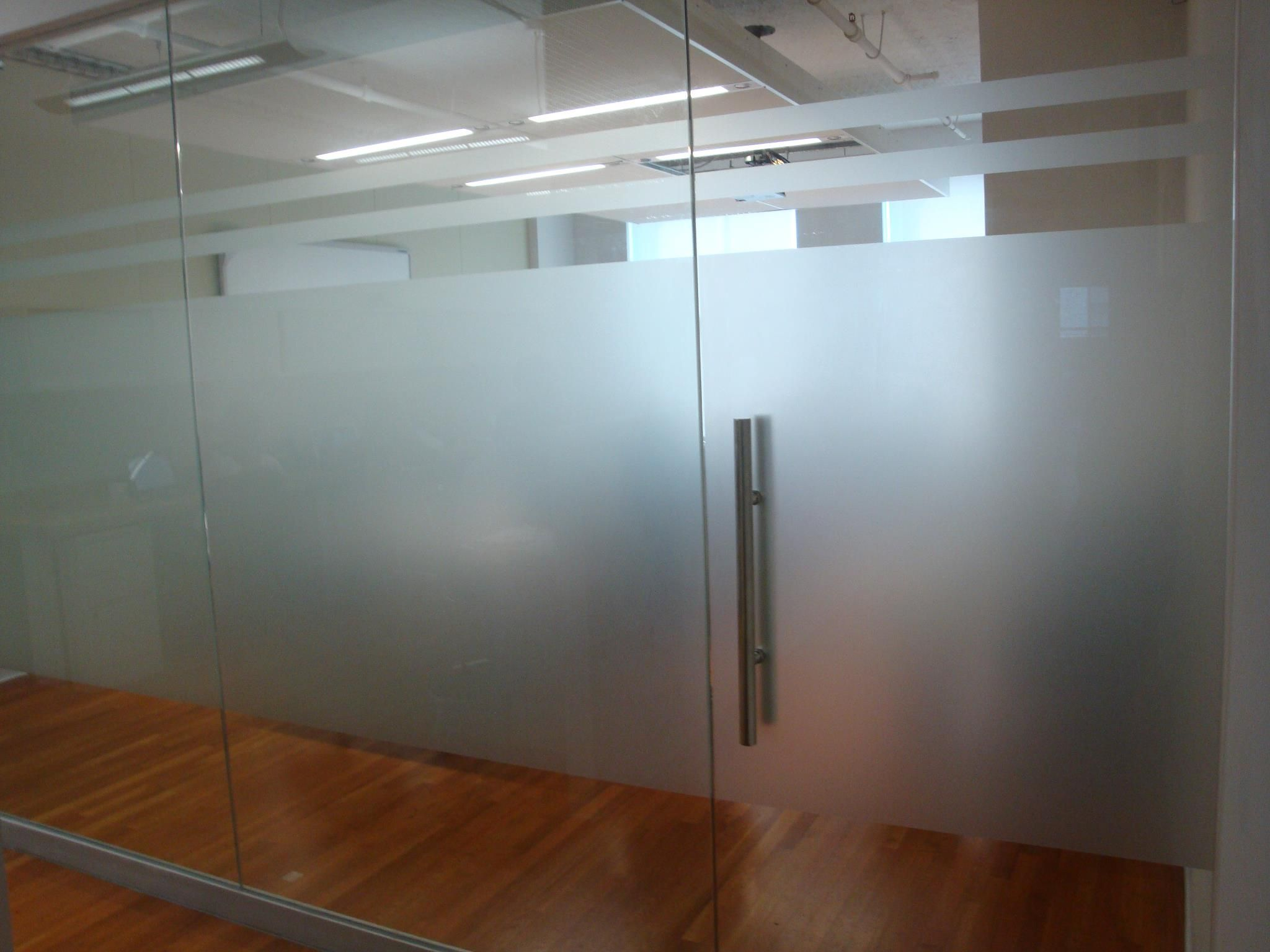 Frosted office glass panel NYC