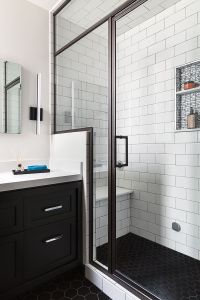 San Francisco Bathroom Remodel, Steam Shower, Black Hex