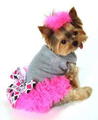 Neon Pink Chiffon Ruffles And A Pretty Black, Gray, White ...