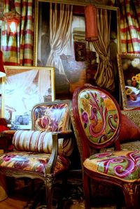 My Bohemian Style. These painted upholstered chairs sold ...