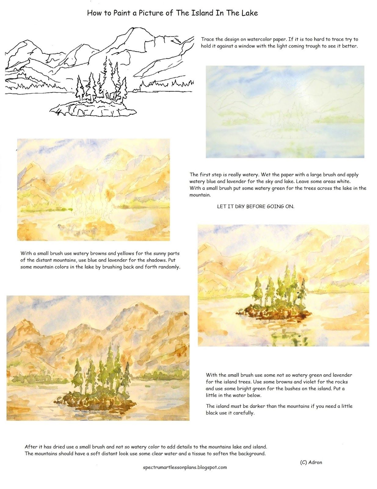 A Short Art Lesson With A Printable Worksheet To Teach How