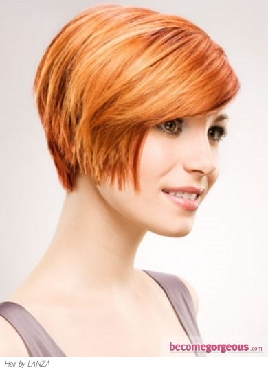 Love The Cut But With My Brown Locks!AB Short Ginger Bob Hair