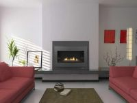 gas fireplace modern decor | ... Real Wood: Contemporary ...