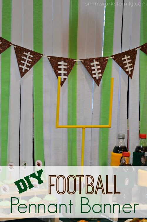 How To Make A DIY Football Pennant Banner Pinterest We