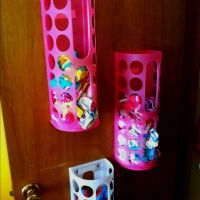 Ikea plastic bag holder for panties and socks...@Tonya ...