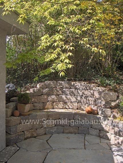 garten steinmauer modern performal garten und bauen | sichtschutz, Gartenarbeit ideen