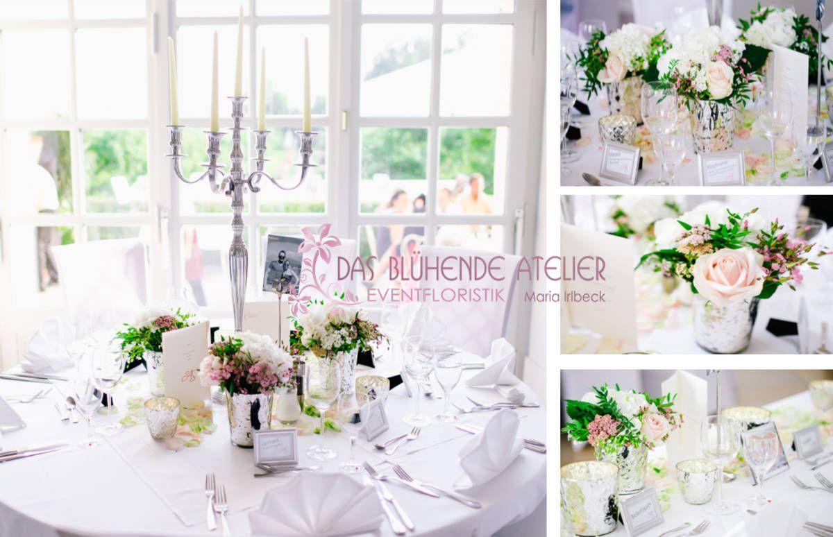 Blumen Tischdeko Hochzeit Runde Tische Tischdeko Nach Saison