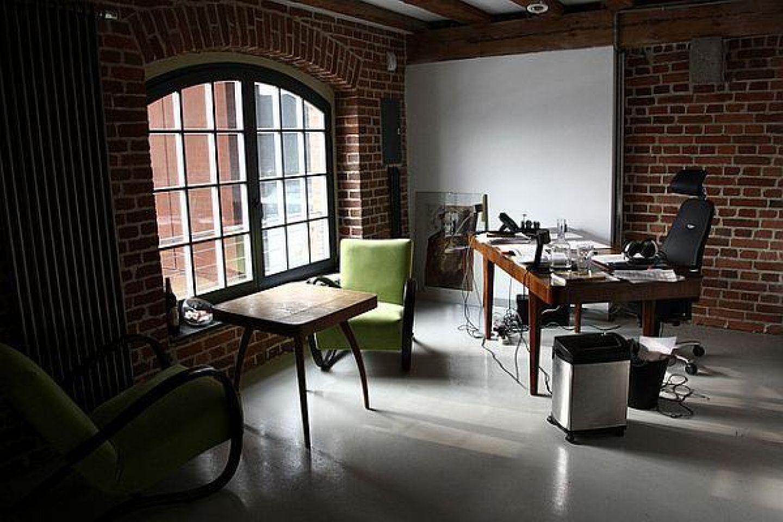 Home Office Interior Design Ideas I Love The Brick Walls And