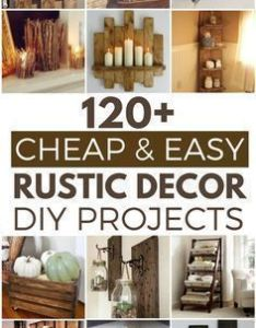 cheap and easy rustic diy home decor ideas also decoration rh pinterest