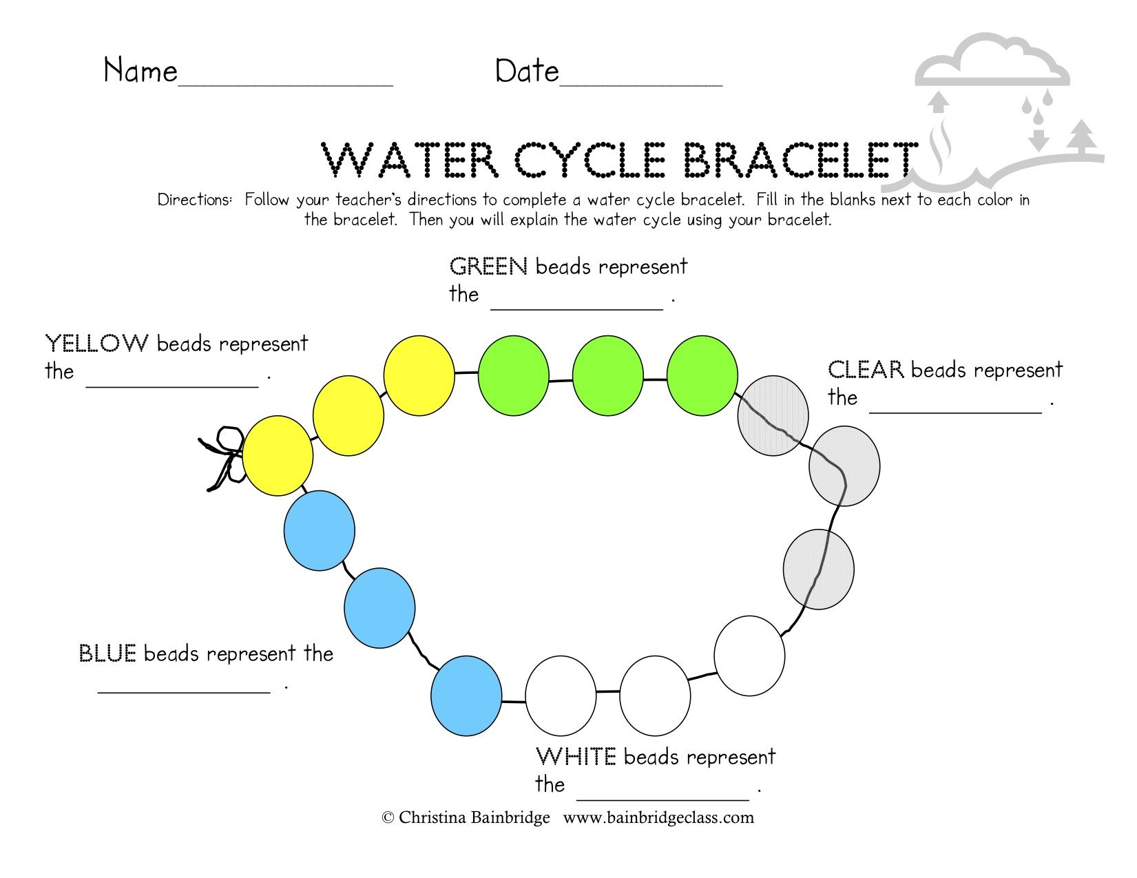 water cycle diagram with questions 1998 jeep wrangler radio wiring bracelets science pinterest teaching