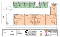 Cubicle Layout for 663 square footage with 6 cubicles and ...