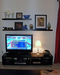 IKEA floating shelves above tv | home | Pinterest | Ikea ...