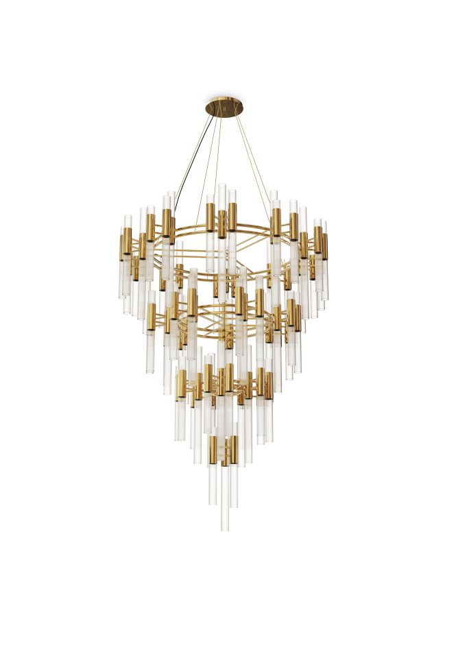 The Waterfall Chandelier Has Exquisite To Fill A Contemporary Loft As Well Luxury Lobby
