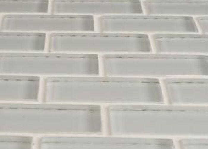 Merola tile tessera subway ice white in  mm glass mosaic also