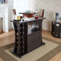 Furniture of America Tiko Modern Espresso Buffet with Wine ...