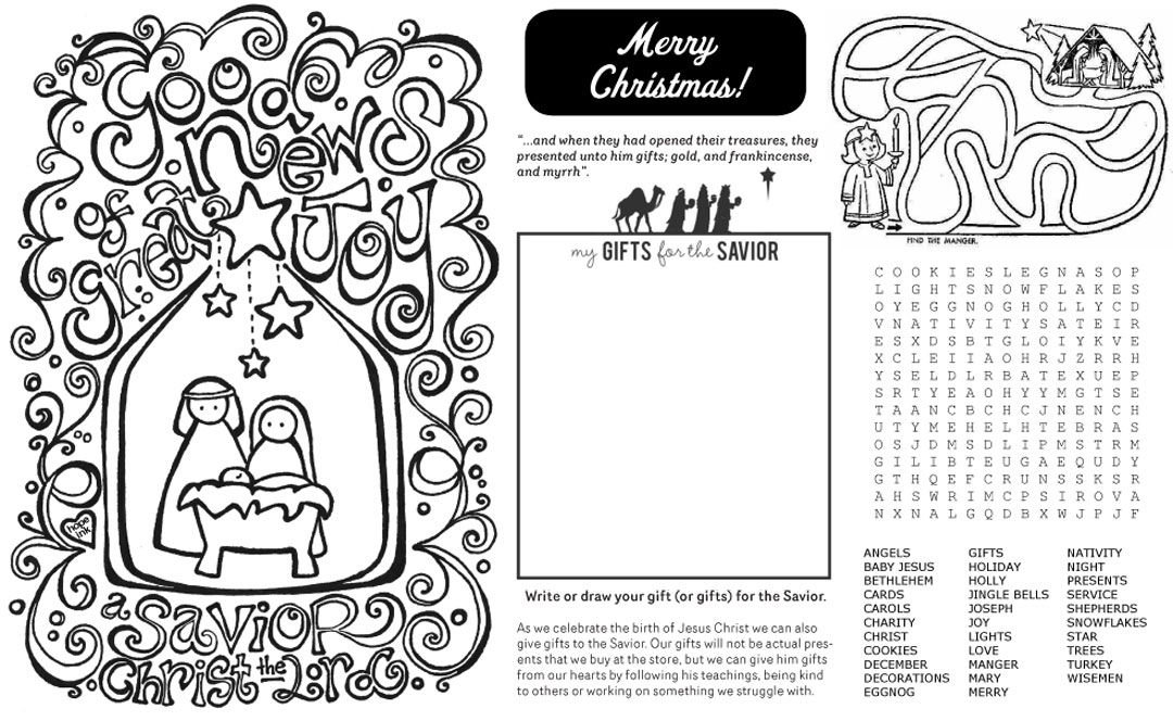 Christmas Placemat. Designed for use at her Ward Christmas