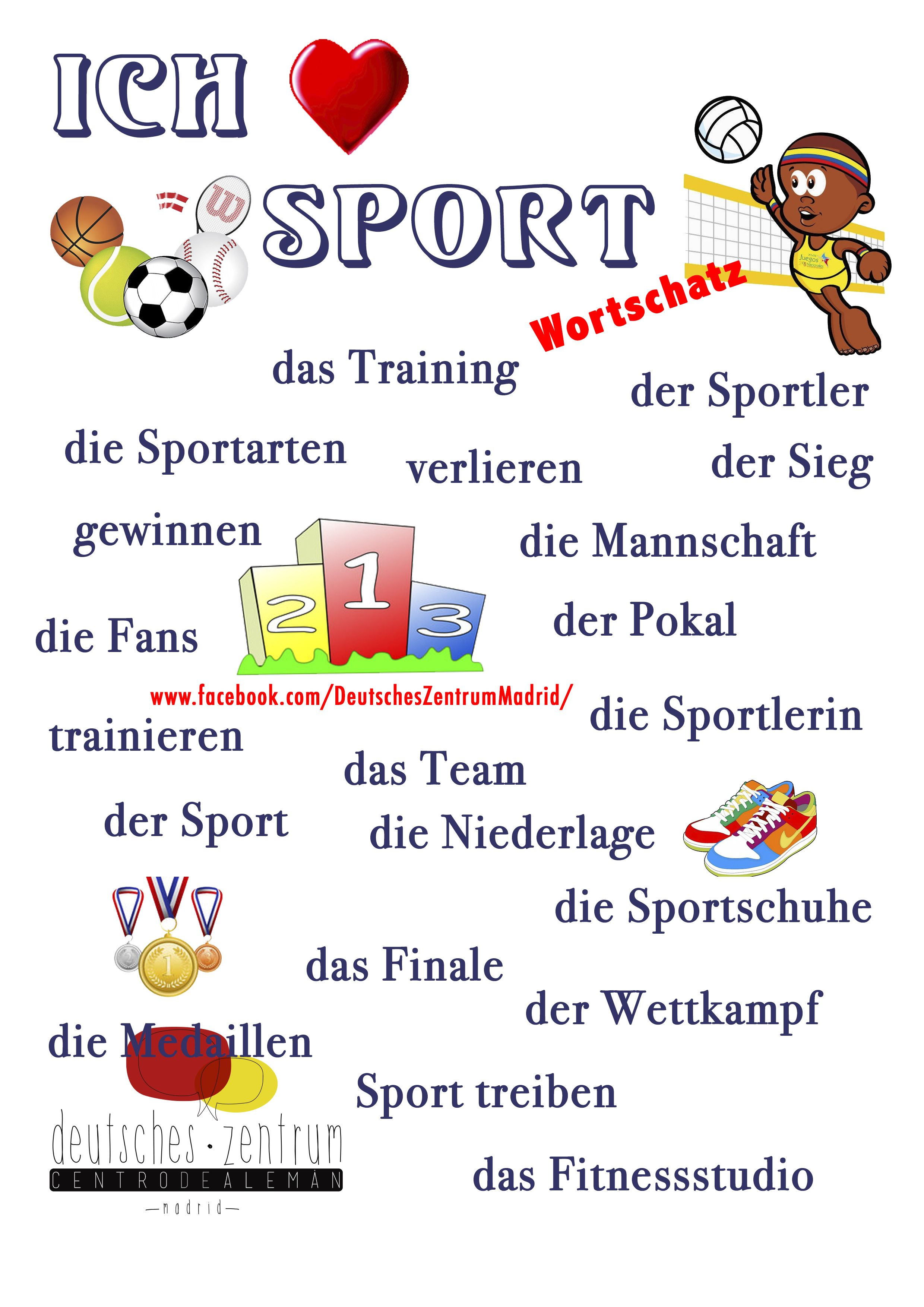 Sport Wortschatz Grammatik Aleman Vocabulario Daf German