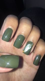 acrylic nails cute olive